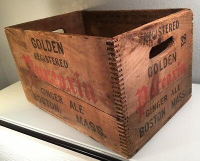 Rare Vintage Pureoxia Ginger Ale Moxie Wood Crate Box Container Boston Mass