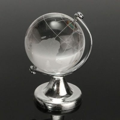 Round earth globe world map crystal glass clear paperweight stand round earth globe world map crystal glass clear paperweight stand desk decor gumiabroncs Gallery