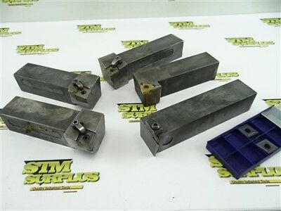 "5Pc Lot Of Indexable Tool Holders 1-1/2"" Shanks Kennametal Greenleaf"