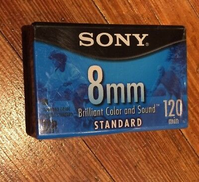 Sony 8mm Standard Video Cassette Tape 120 Mins New Sealed