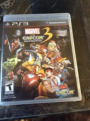 Marvel vs. Capcom 3: Fate of Two Worlds (Sony PlayStation 3, 2011) PS3, Complete