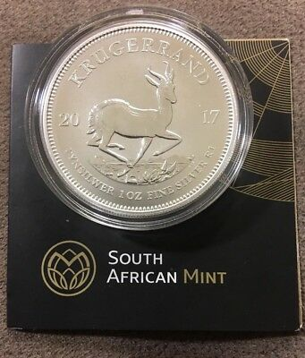 2017 South Africa 1 oz Silver Krugerrand Premium Uncirculated (50th Annv. Privy)