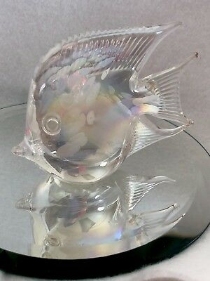 Crystal White Abalone Hue FISH Aquatic Marine Handcrafted Figurine