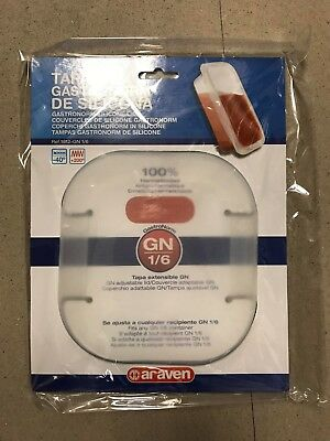 Araven 91812 - GN Silicone Food Storage Lid, 1/6 Size - Airtight NEW
