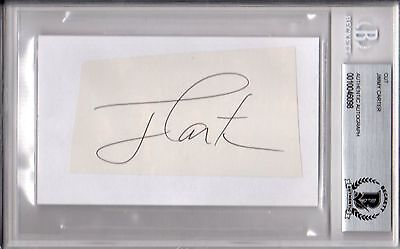 Beckett-Bas United States President Jimmy Carter Autographed-Signed Index Card 8