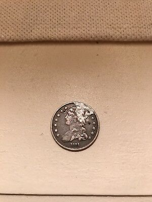 1831 25 Cent Capped Bust Silver Quarter - Holed/plugged with damage