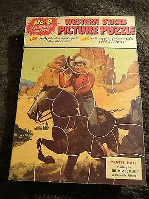 1955 Quaker Puffed Wheat Or Rice Puzzle Full Back Panel #8 Monte Hale