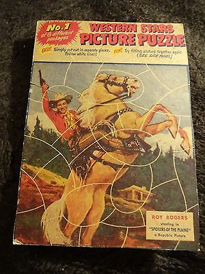 1955 Quaker Puffed Wheat Or Rice Puzzle Full Back Panel #1 Roy Rogers