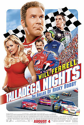 "Talladega Nights Ricky Bobby (2006) Movie Poster New 24""x36"" Will Ferrell NASCAR"