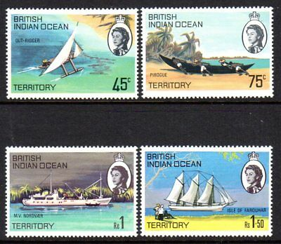 1969 BRITISH INDIAN OCEAN TERRITORY ISLAND SHIPS SG32-35 mint unhinged