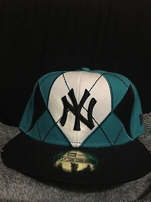 ad4eefe93be new era 59fifty 7 1 2 Fitted .New York Yankees.Rare Argyle Teal