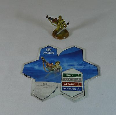 HeroScape Rise of the Valkyrie Sgt. Drake Alexander Figure w/ Card