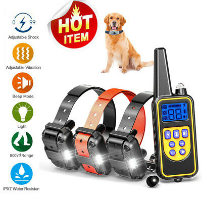 US 2600 FT Remote Dog Training Shock Collar Waterproof Hunting Trainer+Free Gift