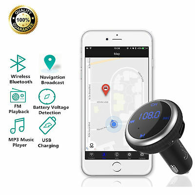 Bluetooth FM Transmitter Smart Auto Lokalisierer MP3 Player USB Auto Ladegerät