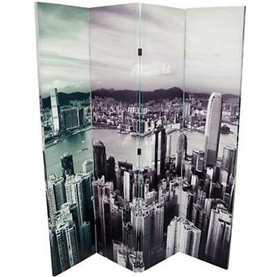 Separe' Paravento New York City 4 Pannelli Tela su Legno 160 x 180 cm Big Apple