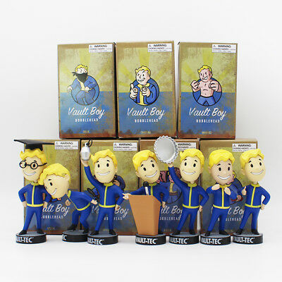 Fallout Vault Boy Bobble Head PVC Action Figure Collectible Model Toy 7 Styles