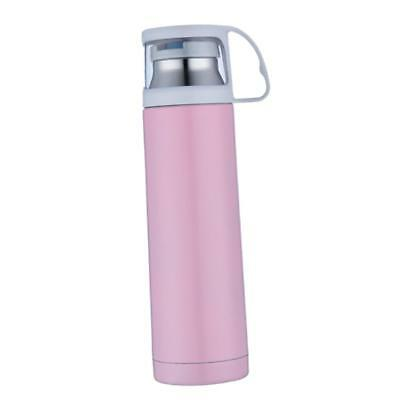 Vacuum Flask Stainless Steel Insulated Thermal Mug Water Bottle 500ml Pink