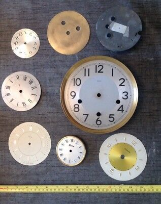 Vintage Clock Dial Collection From Clockmakers Spare Parts