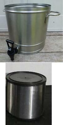 NEWCO Stainless Steel 3 Gallon VCT-30 Iced Tea Dispenser Tank & Stand