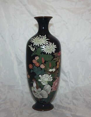 19th Century Japanese Silver Wired Cloisonne Vase Meiji Period (1868-1912)