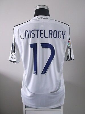 a7a31f73b V. NISTELROOY  17 Real Madrid Home Football Shirt Jersey 2006 07 (L ...