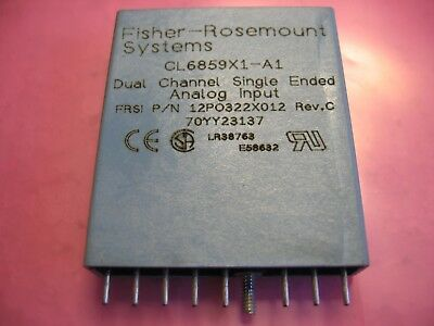Fisher Rosemount Dual Channel Single Ended Analog Input CL6859X1-A1 /12PO322X012