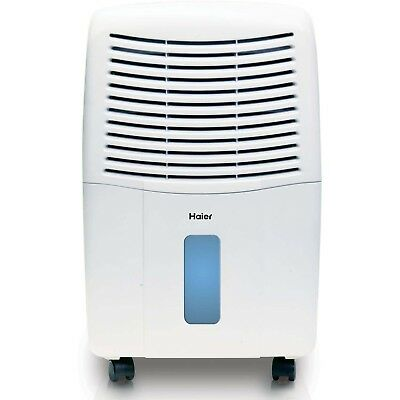 Haier 2 Speed Portable Electronic Air Indoor Dehumidifier with Drain, 65 Pint