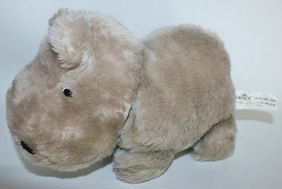 "Rare DAEKOR HIPPO Plush 10"" Vintage Hippopotamus STUFFED ANIMAL Lovey"