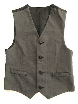 Izod Reversible Black and Gray Boys' Dress Vest