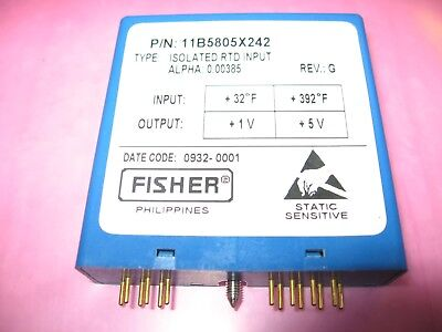 Fisher RTD Isolated Resistance Temperature Detector 11B5805X242 / CL6853X1-A10