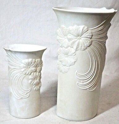 Pair of Kaiser Bisque Pottery Vases  Thames hospice 107R2