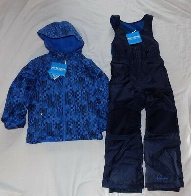 COLUMBIA Youth Boys XS 6/6X 6/7 Outgrown Frosty Slope Blu Snow Bibs Coat NEW NWT