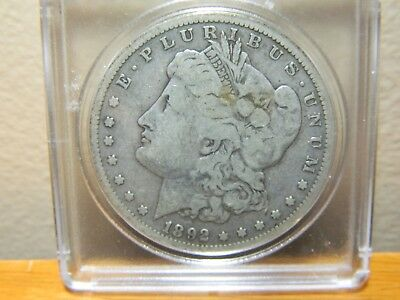 1892-S Morgan Silver Dollar, NICE ORIGINAL COIN VERY SCARCE DATE