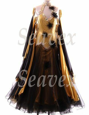 U5026 Elegant Women Ballroom tango Foxstep waltz salsa dance dress Custom made