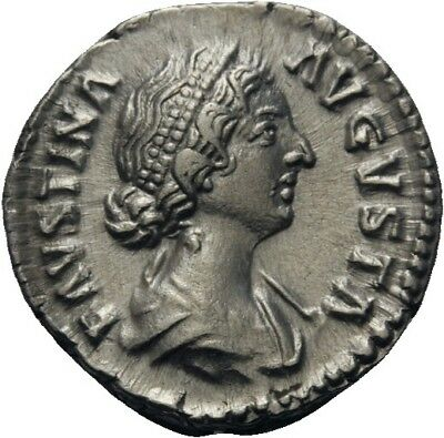 Lanz Rome Denarius Faustina Minor Fecunditas Sceptre Child »Art0198