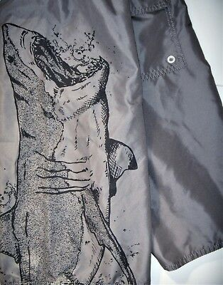 Old Navy Kids Shorts Bermuda Elastic Waist Grey Size XL (14-16) Shark Print