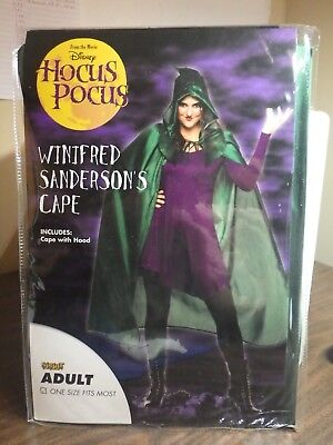 Disneys Hocus Pocus Winifred Sanders Adult size Cape with Hood - NEW