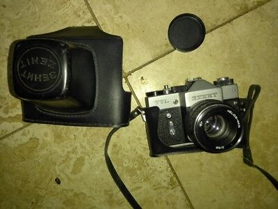 vintage Russian Zenith TTL camera,  very good condition, leather case