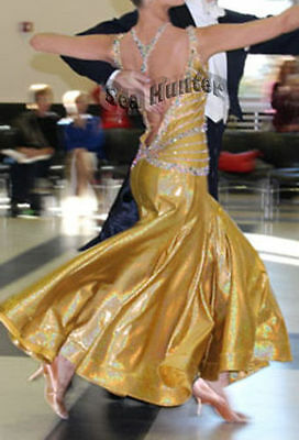 * Competition Ballroom ladies tango waltz dance dress Custom made (Any design)