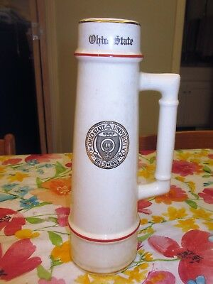 Rare Vintage Ohio State University OSU Ceramic Beer Stein Mug 32 oz. HAND PAINT