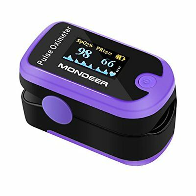 OLED Display Finger Pulse Oximeter Instant Read Saturation Heart Rate Monitor