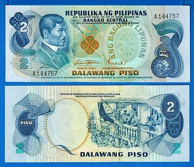 Philippines P-152 2 Piso Year ND Uncirculated Banknote