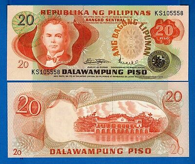 PHILIPPINES   20   PISO  2010    P 206 a  Uncirculated Banknotes