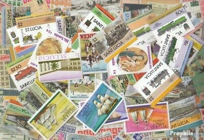 St. Lucia 200 different stamps