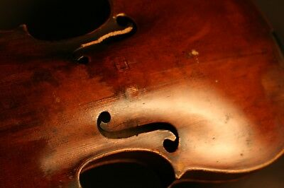 Fine Old Antique French 18Th Century Violin For Restoration, Grafted Neck.