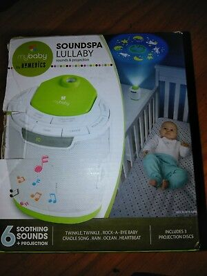 myBaby Soundspa Lullaby Sound Machine and Projector, Auto-Off Timer