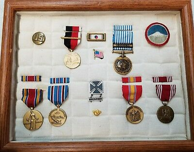 Lot US Military Medals/Ribbon Bars~WWII Campaign~Good Conduct~Korea~Japan