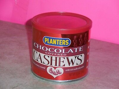 Planters Chocolate Covered Cashews Empty but Factory Sealed Collectible Can Tin