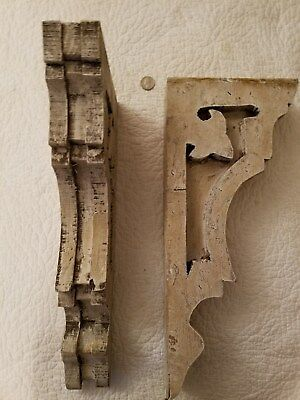 Fabulous Pair Of Vintage Style Shabby Farm House Cottage Chic Corbels