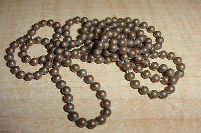 Antique Copper Solid Bead Necklace 35 Inches